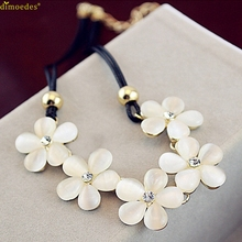 Diomedes Newest Fashion Womens Women Fashion Crystal Flower Charm Choker Chunky Statement Bib Chain NecklaceCrystal Pendant Gift