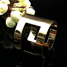 Opening Wide Surface Gold-Colour Bracelet Hollow Wild Men And Women Can  Punk Style Bracelet Jewelry For Men And Women Bangle