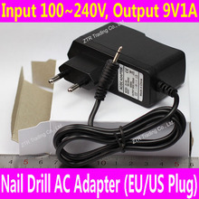 9V EU Plug AC Adapter for Electric Nail Drill UV Gel Remover Machine Nail Art Manicure Pedicure Cuticle Removing Tool DC Power