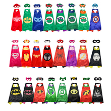 Super Hero Mask Superman Spiderman Cape Batman Cloak Kids Happy Birthday Children's Day Gift Halloween Cosplay Party Supplies(China)