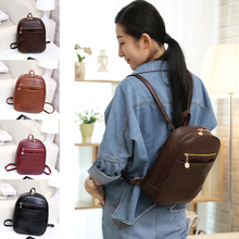 Preppy Style Shopping Backpacks Women Leather Purse Clutch Shoulder Bags Backpacks