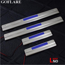 Car Styling for Ford Focus 3 mk3 accessories 2012-2016 led auto door sill protector illuminated door sills scuff plate guard(China)
