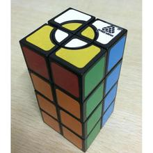 LeadingStar 2x2x4 Crazy Cuboid Magic Cube PVC Sticker Brain Teaser Twisty Puzzle Toy for Beginner to Experienced Cubers zk 35