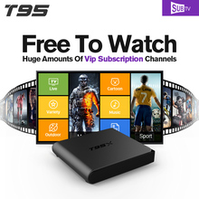 T95X 1G+8G Smart TV Set Top Box Android 6.0 S905X 1 Year SUBTV Account APK HD IPTV Europe Arabic French UK Channels