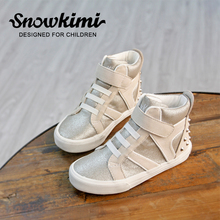 Autumn children's sports shoes, girls' high class casual shoes, boys' fashionable rivets, casual shoes, children's high running(China)