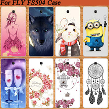 Super Stylish Cover For FLY Cirrus 2 FS504 Colorful Soft TPU Case Various Popular Pattern 3D Design Case tpu Cover FOR Fly FS504(China)