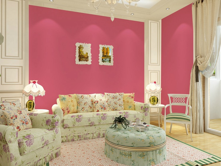 Modern Candy Solid Color Wallpapers Home Decor Pink Blue Green ...