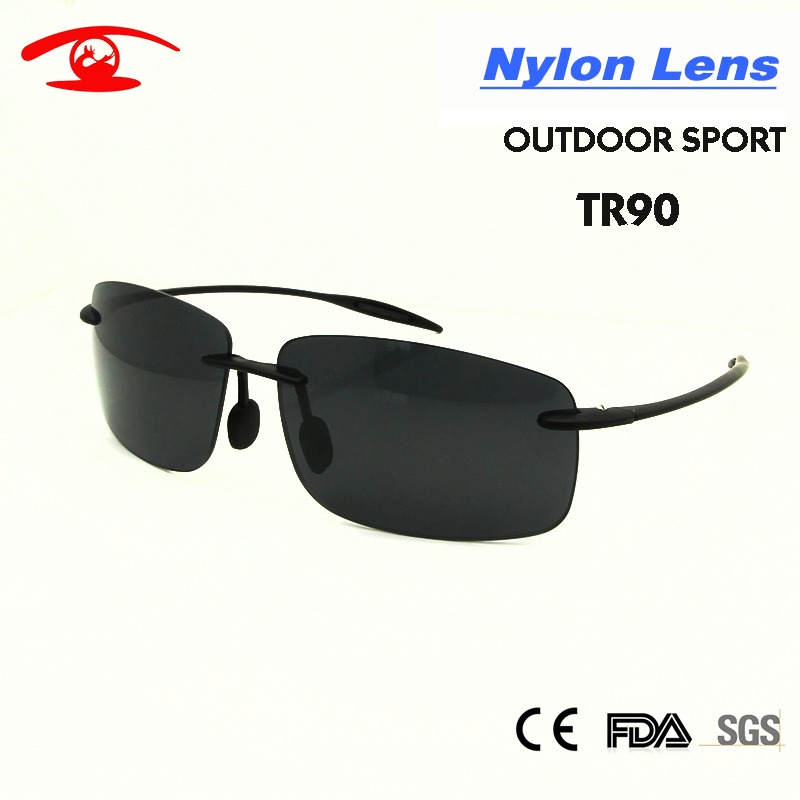 2017 New Summer Rimless Sunglasses Men TR90 Light Weight Outdoor Sport Male Sunglass Revo Blue Gray Lens Fishing Eyewear  <br><br>Aliexpress
