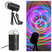 Laimanice EU/US Plug New RGB 3W Crystal Magic Ball Laser Stage Lights For Party Disco DJ Bar Bulb Lighting Show
