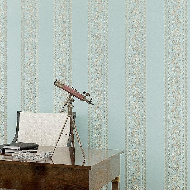 beibehang vertical stripes non woven 3D flooring wallpaper bedroom living room version wall paper precision pressure process <br>