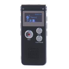 Rechargeable 8GB Mini USB Flash Digital Audio Sound Voice Recorder 650Hr Dictaphone Dictaphone MP3 Player Black color