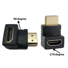 2pcs/lot 90/270 Degree Angle HDMI to HDMI Male to Female Cable Adaptor Converter Extender for 1080P HDTV for Hdmi Adapter