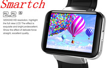 Smartch DM98 Smart watch MTK6572 1.2Ghz 2.2 inch IPS HD 900mAh Battery 512MB Ram 4GB Rom Android 3G WCDMA GPS WIFI smartwatch(China)