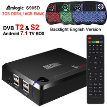 MECOOL DVB-T2 KI Pro Android Tv Box Amlogic S905D 2G/16G Android 7.1 Set Top Box DVB-S2/T2 Wifi BT4.1 1000M UHD 4K Media Player