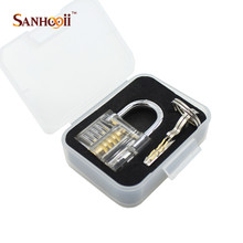 SANHOOII Practice Padlock Lock Training Skill Locksmith Tools Beautiful Design Modern style Transparent Visible Cutaway
