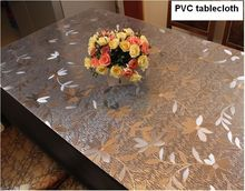 PVC waterproof cloth soft translucent glass plastic table cloth 1mm