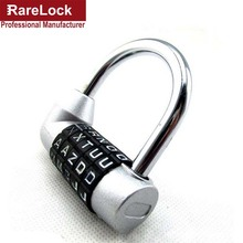 LHX 5 Letters Code Combination Password Lock Door Box Gym Locks Suitcase Luggage Bicycle Locks a