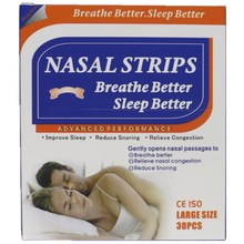 30pcs=1box/lot(66x19mm)  Traditional nasal strips for better sleep, better breath and reduce snore patch