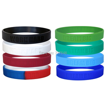300PCS WORK HARD DREAM BIG wristband silicone bracelets free shipping by FEDEX