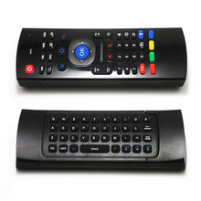 ANEWKODI 2.4GHz IR Remote Control Air Mouse Wireless Flying Double Keyboard Microphone Voice for XBMC Android Mini PC TV Box