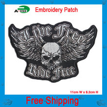 Iron On Patches Mix Embroidered Fabric Patches For Motorcycle Badges Custom Embroided Patch 2015 New Hot Sale