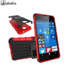 AKABEILA Cell Phone Back Covers Cases For Microsoft Nokia Lumia 650 N650 Cover Rubber Armor Hybrid Defender Tyre Case Skin(China)