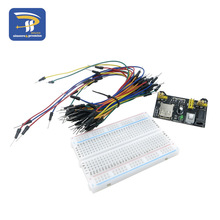 3.3V/5V Breadboard power module+ 400 points Solderless Prototype Bread board kit +65 Flexible jumper wire