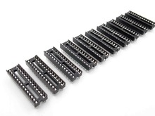 10PCS/LOT 28pin DIP IC sockets Adaptor Solder Type 28 pin Narrow body