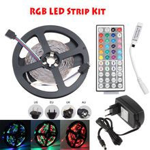 3528/2835 5050 5630 5730 LED Tape Strip Light No Waterproof Red Blue Green RGB With DC12V 2A 3A Adapter 24 Key IR RGB Controller