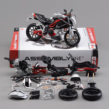 Fashion Kids Birthday gift DIY Educational Toys 1:12 Brand New Metal Assembly Motorcycle Model Toy