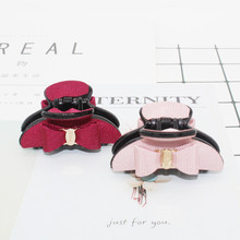 New Fashion butterfly metal button hair Crab claw clip women Headwear brand girls hair clips Lady Children accessories Hairbands(China)