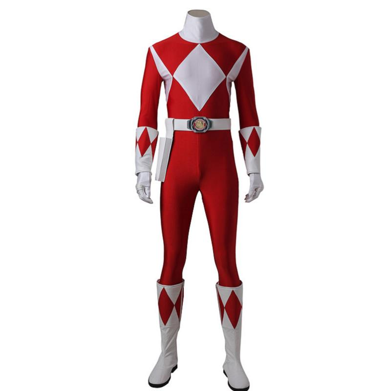 Costume For Tyranno Ranger Geki Zyuranger Cosplay Costume Outfit Onesies Jumpsuit Halloween Adult Party Custom Made With Boots