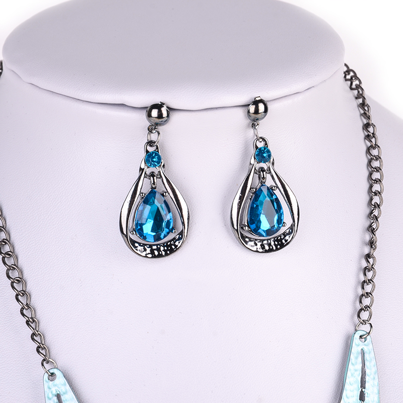 Charming Women Engagement Jewelry Set Shellhard Imitation Pearl Rhinestone Crystal Pendant Choker Bridal Necklaces Earrings