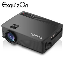 Exquizon GP12 Updated EHD09 Mini Projector 2000Lumen 800*480 Max 1080P Multimedia Support HDMI/USB/SD/AV/AUX Vieo Beamer