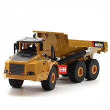 High simulation 1:50 scale Engineering vehicle toys Articulated dump truck metal model collection for children gifts(China)