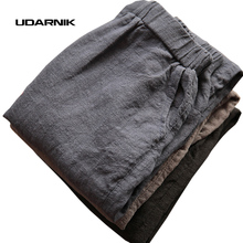 Women Men Linen Cotton Harem Pants Baggy Loose Fit Trousers Casual High Waist Lady Waistband Fashion New Plus Size 904-277