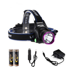 6000 Lumens CREE XM-L XML T6 LED Headlamp Headlight Flashlight Head Lamp Light + 2*18650 battery + charger + Car Charger(China)