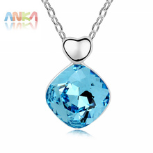 2017 Promotion Hot Sale Trendy Women Pendant Necklaces Crystals from SWAROVSKI Crystal Pendant Plated Necklace #98532