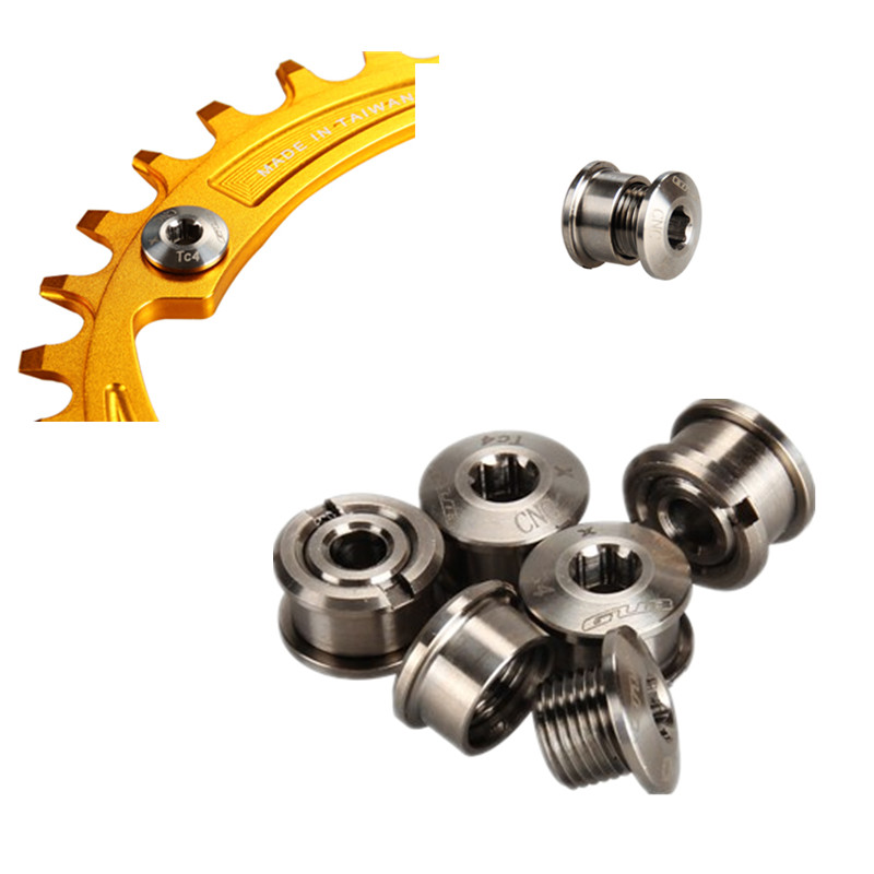 2Pcs Crank Arm Fixing Bolt Screws Crankset Chain Ring Bolt Chain Wheel Screw