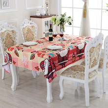 Christmas Table Cloth Lovely Santa Claus Creative Customized Acceptable Waterproof Oilproof Family Expenses Tablecloth ZD-2(China)