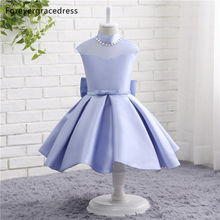 Forevergracedress Real Photos Lovely Flower Girl Dress Cute Lavender Sleeveless With Sashes Bow Kids Children Pageant Gown(China)