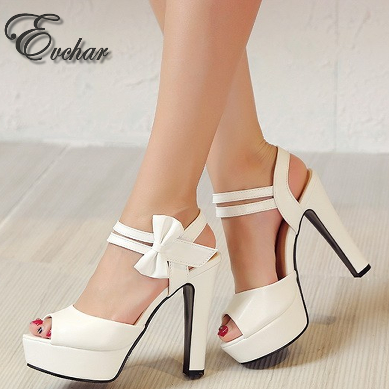 New Ladies thin high heels open toe shoes women summer fish mouth  platform shoes sweet heart Princess sandals big size 33-43<br><br>Aliexpress