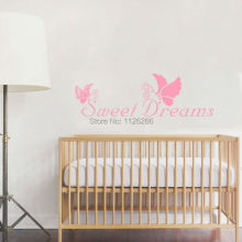 Love Quotes Sweet Dreams Beautiful Butterfly Decoration Home Wall Art Mural Decal Removeable Vinyl Sticker