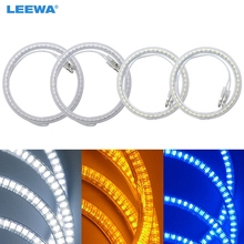 LEEWA 2X85mm 2X100mm 4pcs/Set Car LED Halo Rings Angel Eyes DRL Head Lamp For VOLKSWAGEN PASSAT White/Blue/Yellow #CA3877(China)