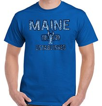Maine State Pride T Shirt State Flag USA Lobster Shirt Gift T-Shirt