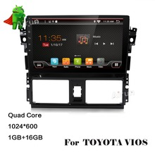 Android 5.1.1 System Car DVD GPS Navigation System Media Player Stereo Audio Video System for Toyota Vios Yaris Sedan 2014 2015(China)