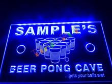 DZ048- Name Personalized Custom Beer Pong Cave Bar Beer   LED Neon Light Sign  hang sign home decor shop crafts
