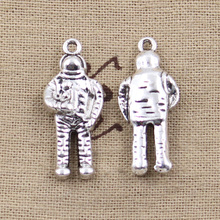 5pcs Charms 3D NASA universe astronaut 31*13*6mm Antique Silver Plated Pendants Making DIY Handmade Tibetan Silver Jewelry(China)