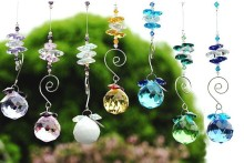 100pcs 30mm Mixed Color Crystal Faceted Ball + Octagon Beads Prism Pendant Hanging Prism Suncatchers Lighting Part