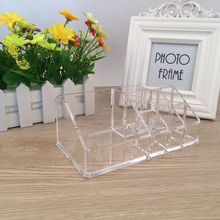 Acrylic makeup organizer Crystal Storge Box plastic Cosmetic Holder Plastic Sundries clear makeup storage Crystal Desktop Box